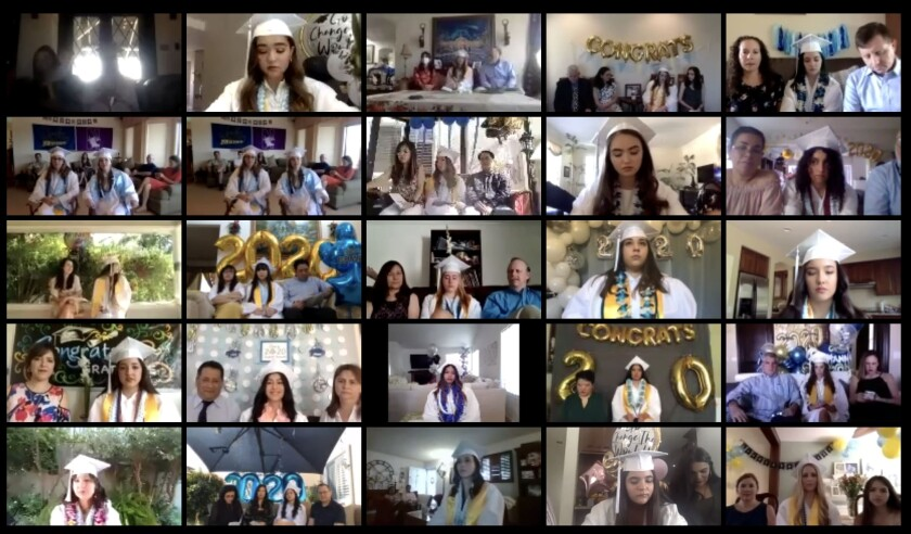 Our Lady of Peace held a virtual graduation ceremony.