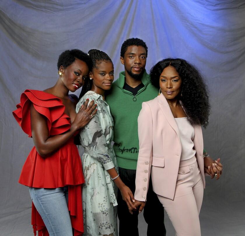 HOLLYWOOD, CA., NOVEMBER 5, 2018 ---Black Panther stars Chadwick Boseman, Angela Bassett, Letitia Wr