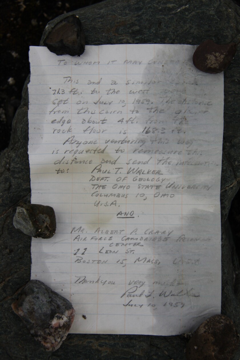 A California man's message in a bottle tucked beneath rocks in a remote Arctic area was found 54 years later.