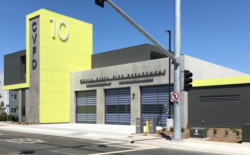 Chula Vista's Fire Station 10 on Millenia Avenue.