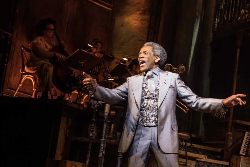 "Andre De Shields in the Broadway production of ""Hadestown,"" one of the many national tours being rescheduled."