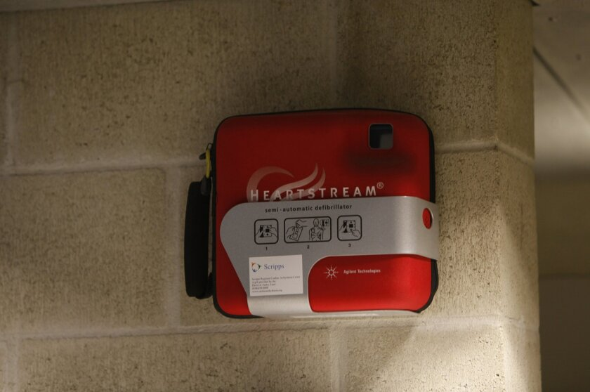 An automated external defibrillator (AED) boosts survival rates those who have suffered sudden cardiac arrest.