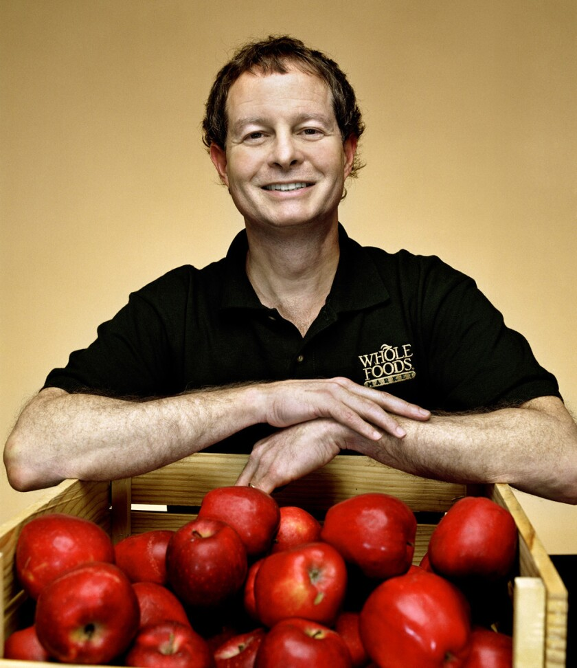John Mackey, co-CEO of Whole Foods, spoke at a Westside event Thursday night at the home of investor Johnathan Sokoloff.