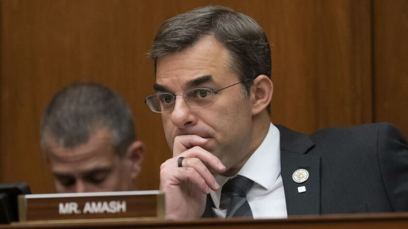 Rep. Justin Amash (R-Mich.) in a committee hearing in June.