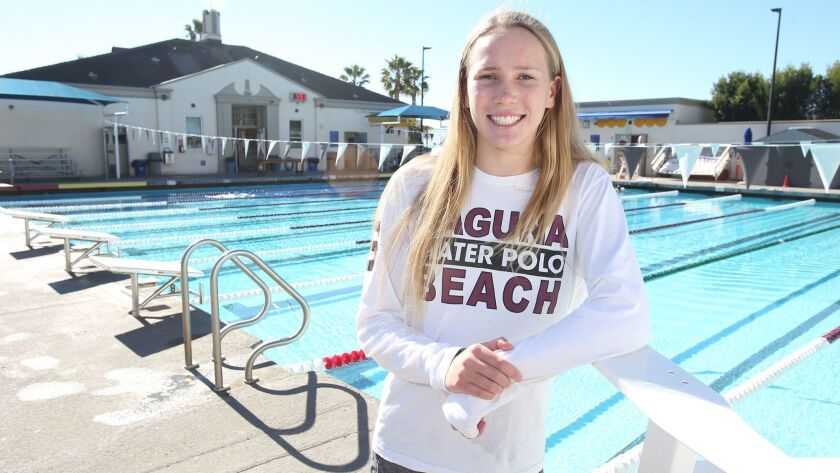Laguna Beach High sophomore girls' water polo player Nicole Struss is the Daily Pilot High School Fe