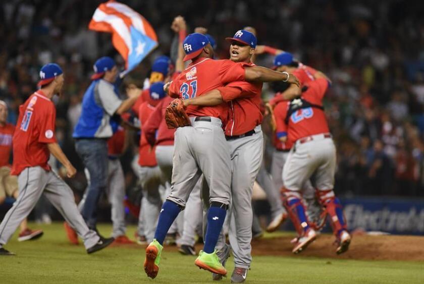 Jugadores de los Criollos de Caguas de Puerto Rico celebran una victoria. EFE/Archivo