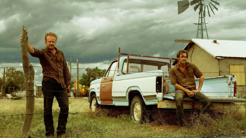 """Ben Foster, as Tanner Howard and Chris Pine, as Toby Howard, in """"Hell or High Water."""""""