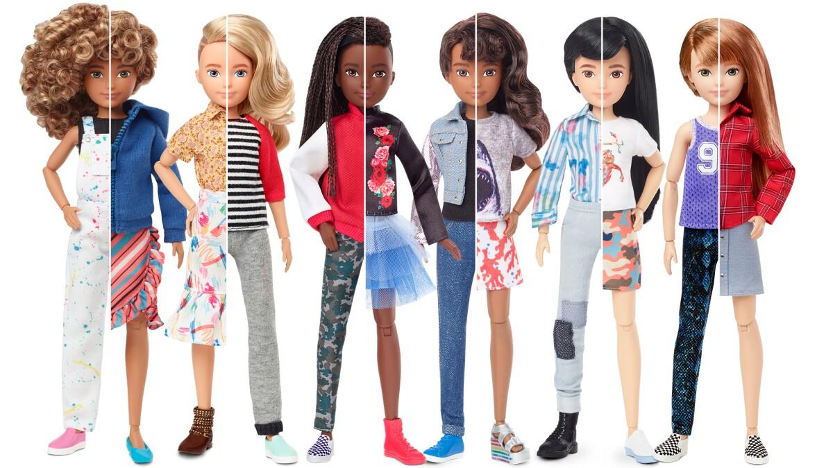 Barbie Toymaker Mattel Makes Room For Gender Inclusive Dolls Los Angeles Times