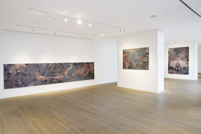 A recent exhibit at OCMAExpand - Santa Ana featured Carolina Caycedo's works depicting local rivers and bodies of water.