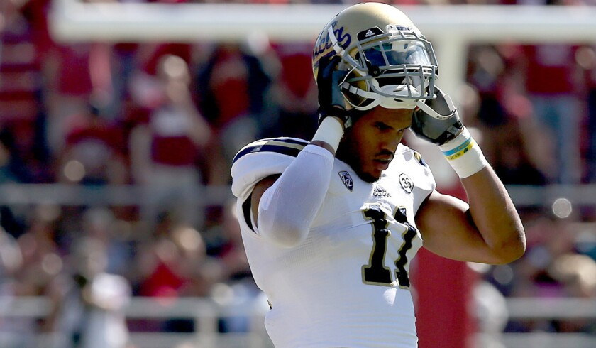 UCLA linebacker Anthony Barr, despite projections he would go low in the first round, was taken ninth overall by the Minnesota Vikings.