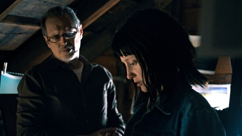"(L-R) - Steve Buscemi and Andrea Riseborough in a scene from ""Nancy."" Credit: Samuel Goldwyn Films"