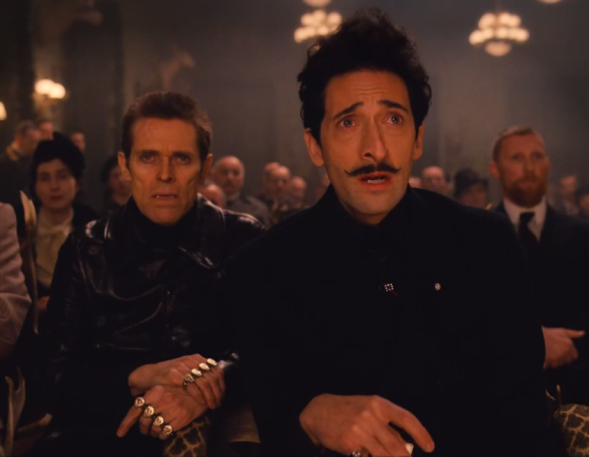 """Willem Dafoe, left, and Adrien Brody appear in """"The Grand Budapest Hotel."""""""