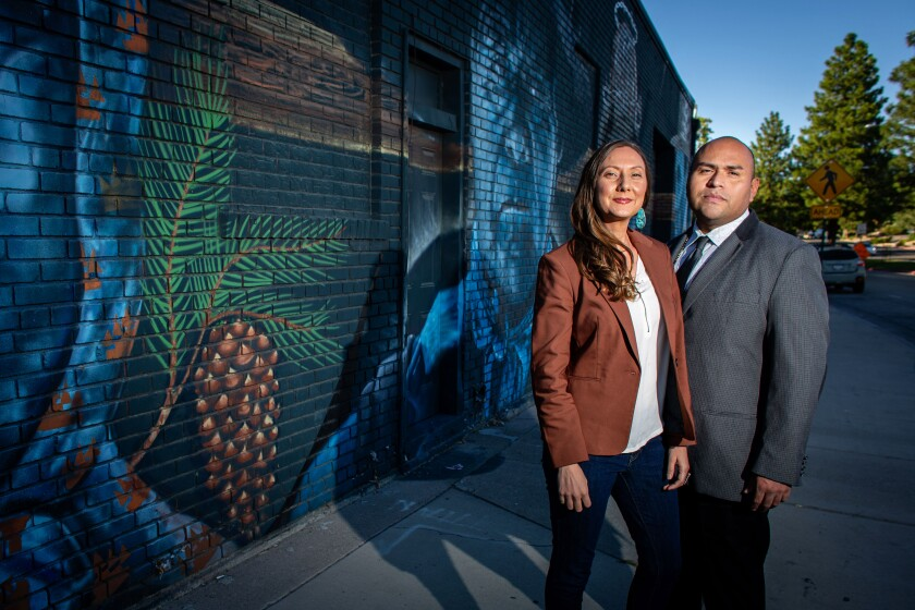 Former Bernie Sanders supporters Brian and Teresa Melendez are founders of the Nevada Democratic Native American Caucus.