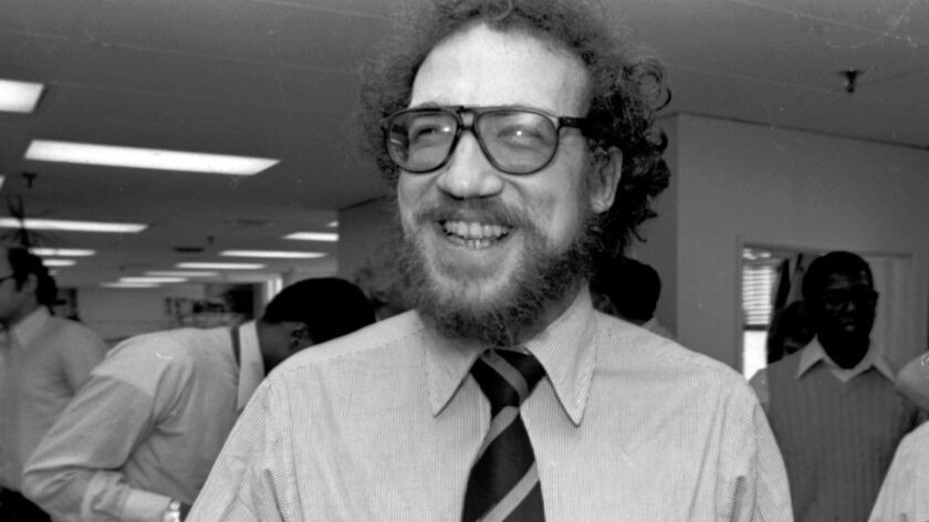 Richard Ben Cramer celebrates winning the Pulitzer Prize in 1979