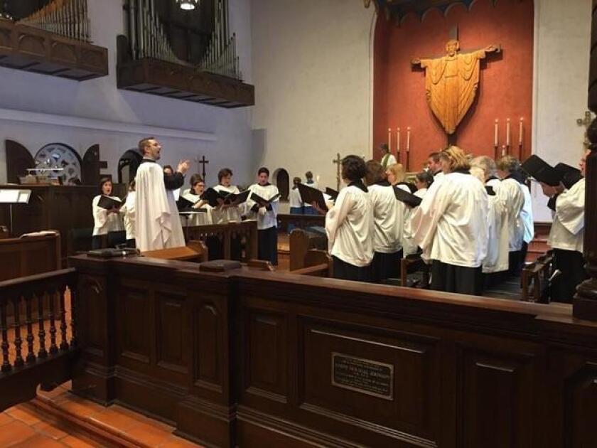 The St. James by-the-Sea Episcopal Church choir in La Jolla