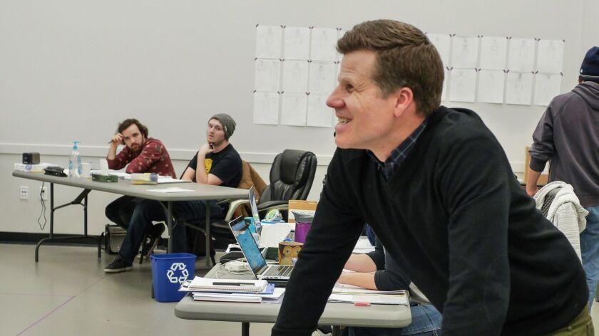 "Bill Rauch, Oregon Shakespeare Festival's artistic leader, in rehearsal for this season's ""Othello."""