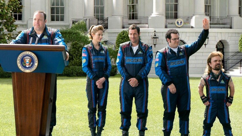 """""""Pixels,"""" this weekend's Adam Sandler vehicle, pits a bunch of schlubby losers against a battle of real-life video game characters."""