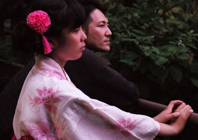 """Yuichi Ishii, right, and Mahiro in the movie """"Family Romance, LLC."""""""