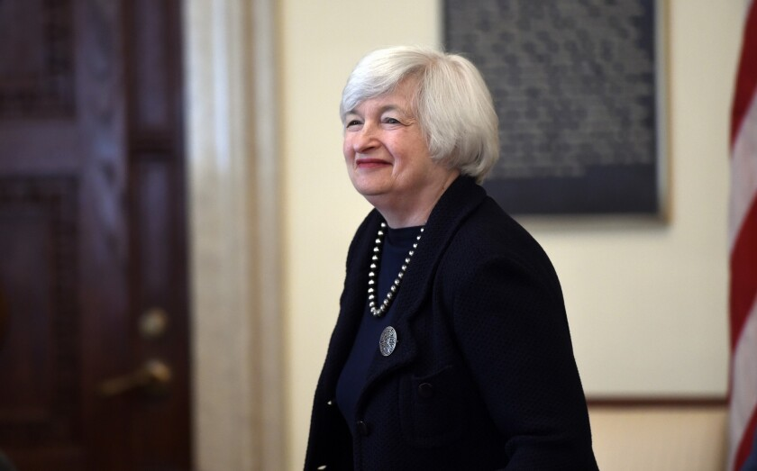 Federal Reserve Chairwoman Janet L. Yellen arrives for a Board of Governors meeting at the Federal Reserve building in Washington on Sept. 3.