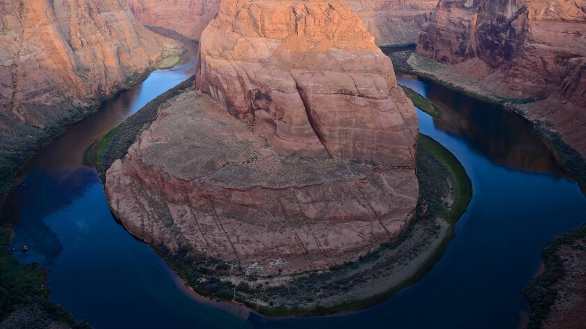 Horseshoe Bend on U.S. Route 89 is part of Glen Canyon National Recreation Area.