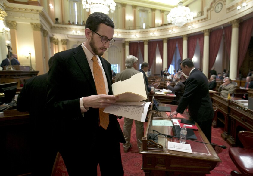 State Sen. Scott Wiener, D-San Francisco, at the Capitol.