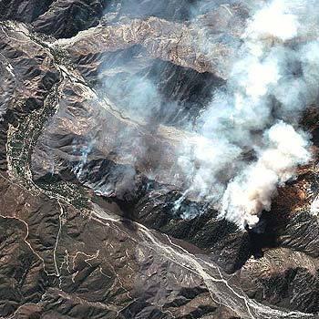 Satellite View of Grand Prix Fire