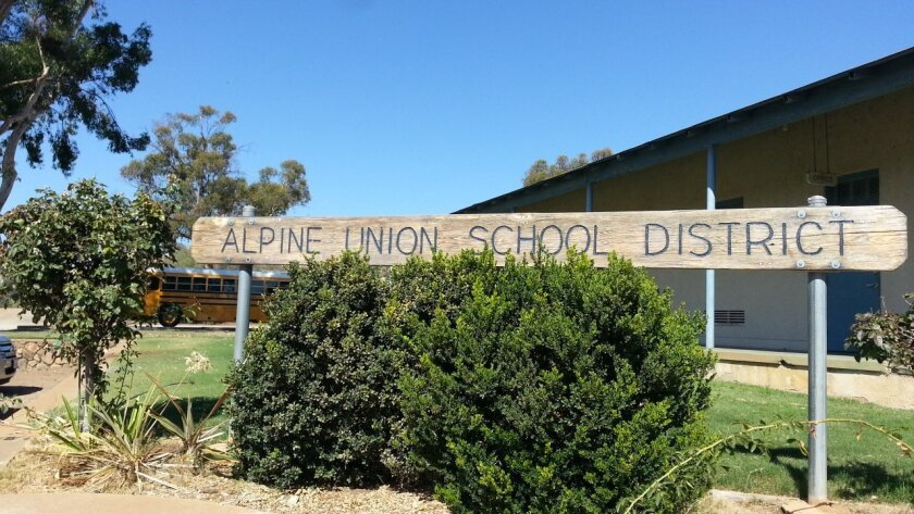 The leader of the Alpine Union School District says the state's hasn't given enough help to his district.