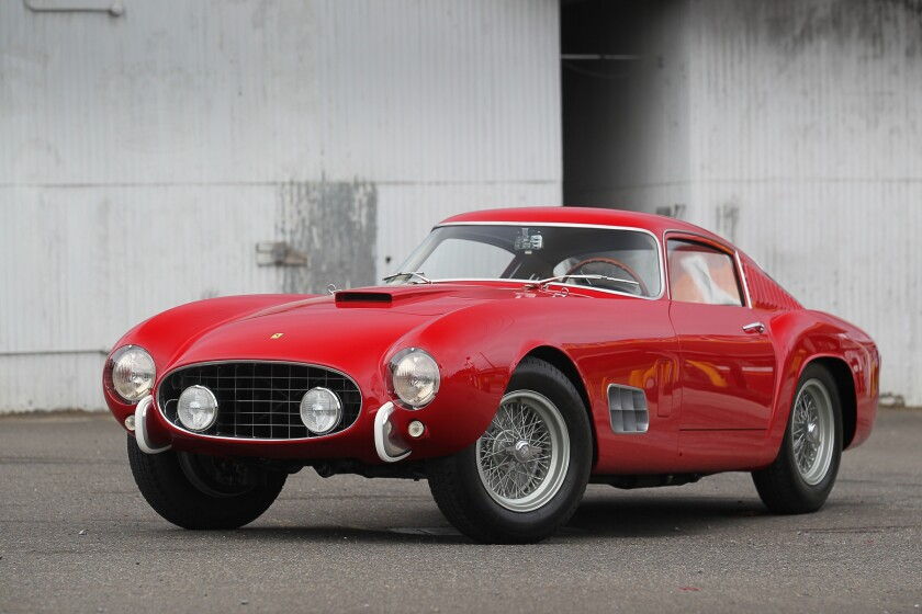 This 1957 Ferrari 250 GT 14-Louver Berlinetta has a pre-sale estimate of $9 million to $11 million.