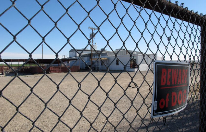 This April 15, 2013 file photo shows Valley Meat Co. in Roswell, N.M., which has been sitting idle for more than a year.