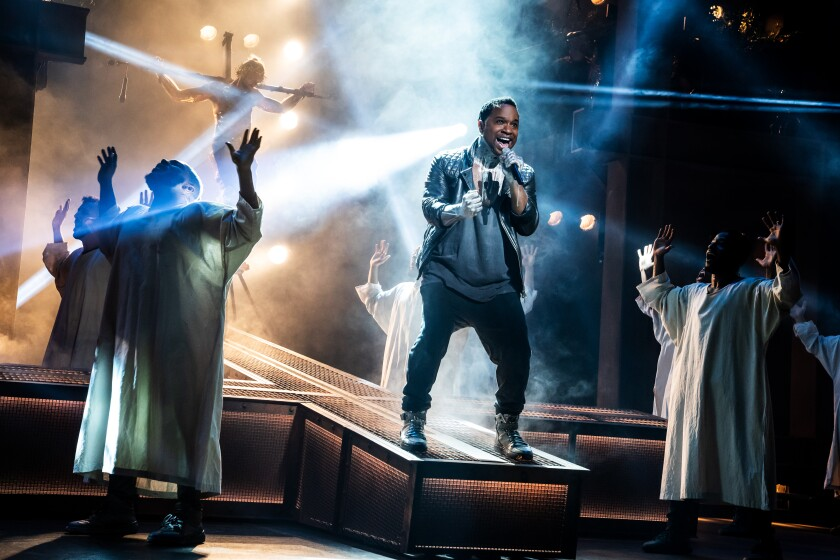 "James Delisco Beeks in the touring production of ""Jesus Christ Superstar."""