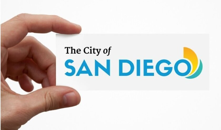 San Diego's new city logo, as depicted in its visual style guide.