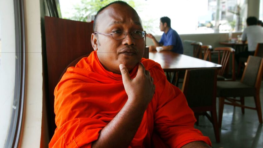 Buth Bunteng, a Buddhist monk and anti-illegal logging activist. said Kem Ley was afraid for his life when they met three days before Kem was gunned down.