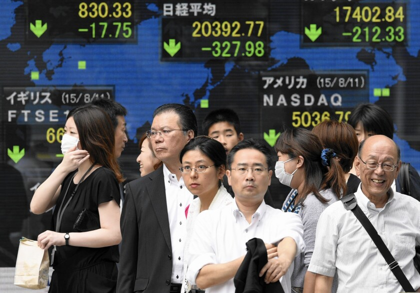 Tokyo stocks fall after the new devaluation of China's yuan