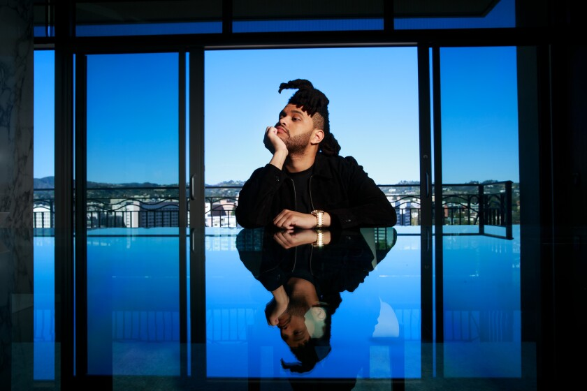 Abel Tesfaye, better known as the Weeknd, poses during a portrait session in Los Angeles, Calif., on Feb. 5, 2016.