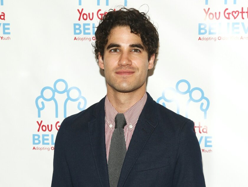 FILE - In this June 29, 2015 file photo, Darren Criss attends Voices for The Voiceless: Stars for Foster Kids in New York. Criss, Aaron Tveit, Leslie Odom Jr., Laura Osnes, Lea Salonga and Seth Rudetsky will perform during Elsie Fest, a one-day outdoor music festival in New York next month on Sept. 27. (Photo by Andy Kropa/Invision/AP, File)