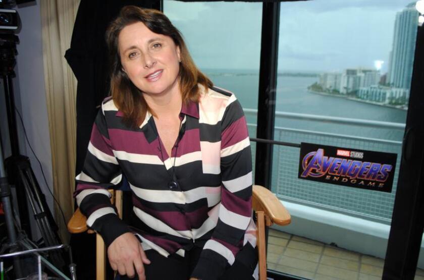 """La vicepresidenta ejecutiva de producción de Marvel, Victoria Alonso, posa durante un evento promocional de la película """"Avengers: Endgame"""" en DVD y Blu-Ray, el 14 de agosto de 2019, en Miami, Florida (EE.UU.). EFE/Antoni Belchi"""