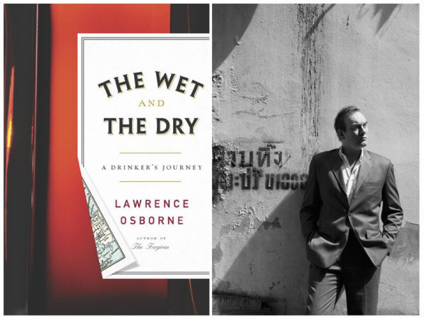 """The cover of """"The Wet and the Dry"""" and author Lawrence Osborne."""