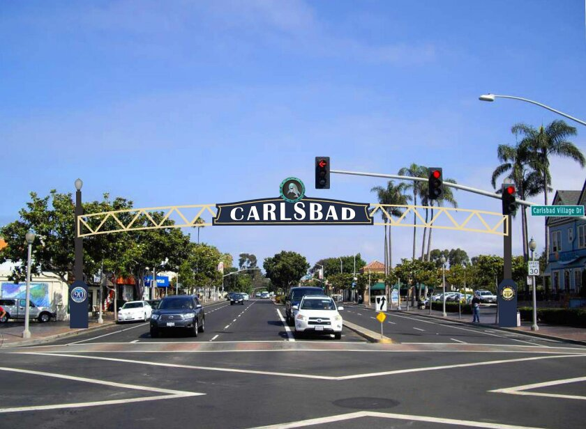 Rendering shows the Carlsbad sign. Courtesy of Federal Heath Sign Company