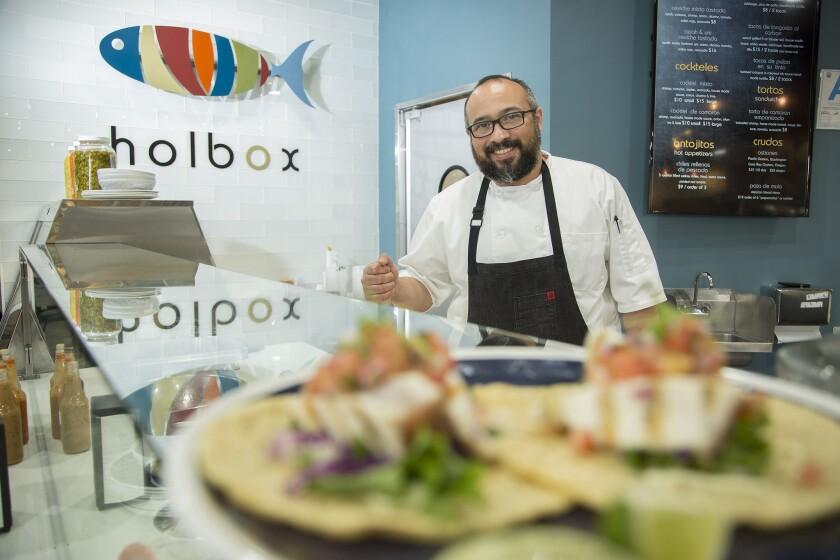 Chef Gilberto Cetina Jr. of Chichen Itza has opened a neighboring seafood stall in Mercado La Paloma