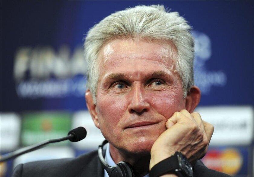 Fotografía del entrenador del Bayern de Múnich, Jupp Heynckes. EFE/Archivo