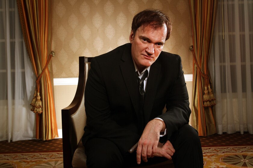"Filmmaker Quentin Tarantino, pictured here around the time ""Django Unchained"" was released, is suing Gawker. He accused the company of disseminating his script for ""The Hateful Eight."""