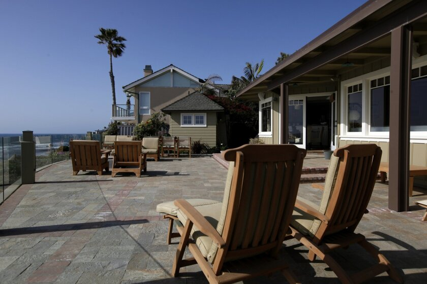 A home in Solana Beach, an area that saw an increase in median home price from 2009 to 2010, according to DataQuick Information Systems. The median price for all types of sales in that ZIP code rose from $1,106,250 to $1,175,000, or 6.2 percent, based on 22 sales in 2010. Twenty-seven homes were so