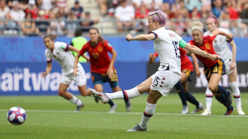 Women's World Cup: U.S. 2, Spain 1