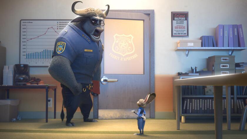 """Una escena del éxito animado de Walt Disney Company, """"Zootopia"""" (Walt Disney Co.)."""