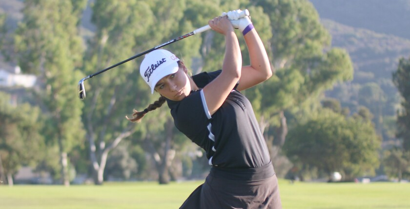 Sophomore Sofina Firouzi of third place Canyon Crest.