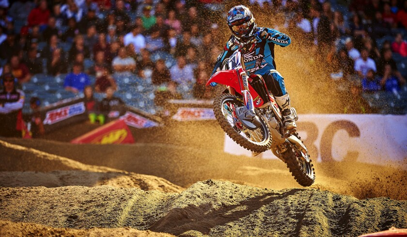 Trey Canard is currently third in the AMA Supercross Series standings this season.