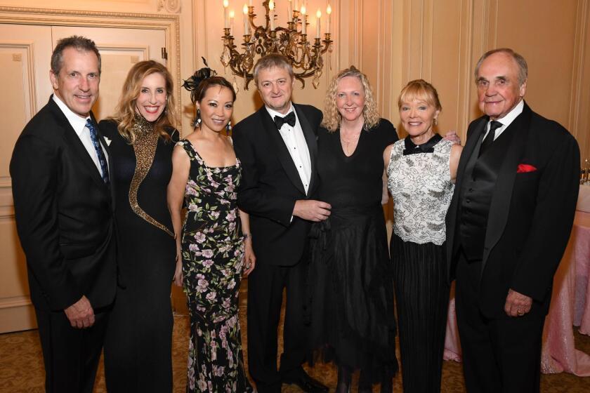 Dane and Katherine Chapin, gala chair June Shillman, Thierry Lancino, LJMS president/artistic director Kristin Lancino, Barbara and Dick Enberg