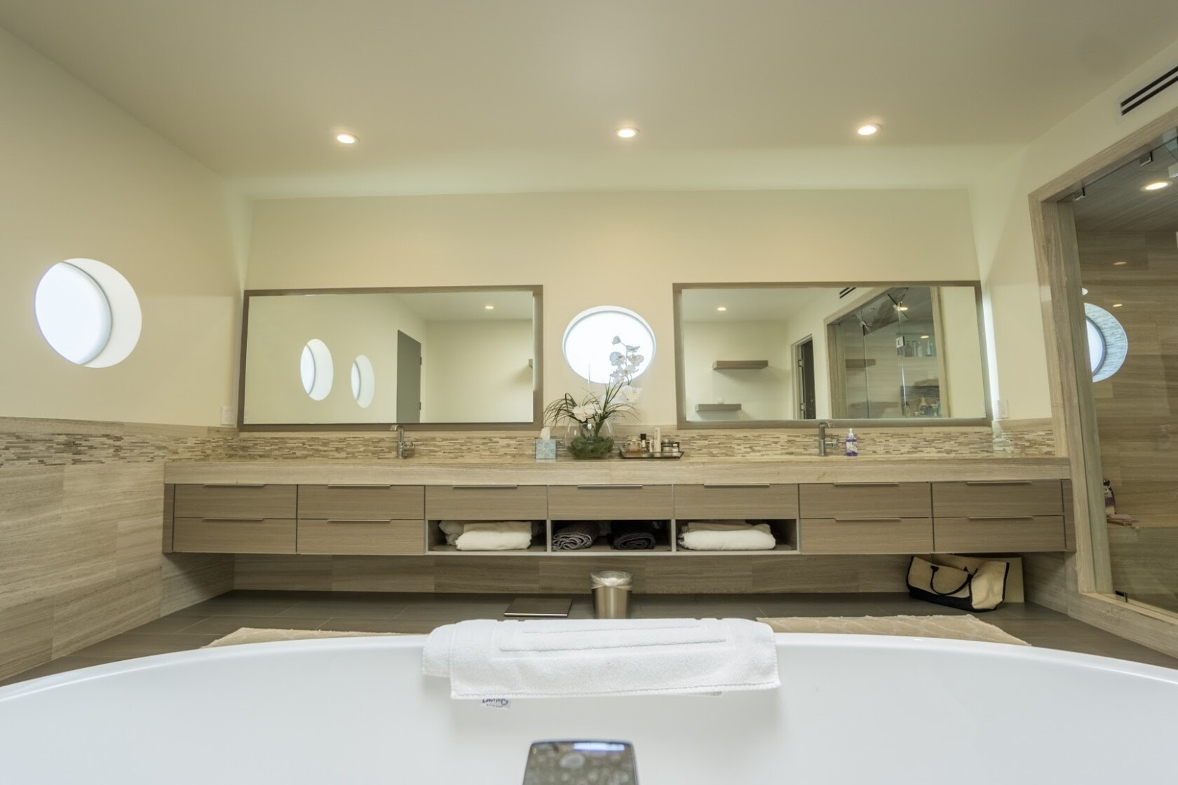 sanctuary style: bathroom vanities devoted to respite and