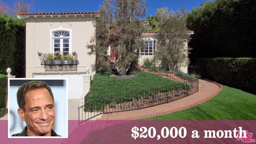 TMZ's Harvey Levin has listed his house in Hollywood Hills West for lease at $20,000 a month.