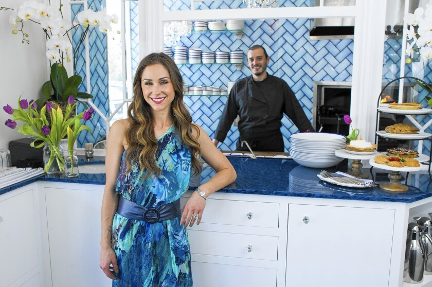 Owners Marin von Blom and her husband, chef Noah von Blom, will officially open Restaurant Marin on Monday at South Coast Collection in Costa Mesa.